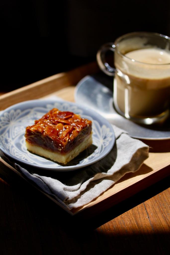 Sea salt honey floretine shortbreads l Bake sale l Singapore