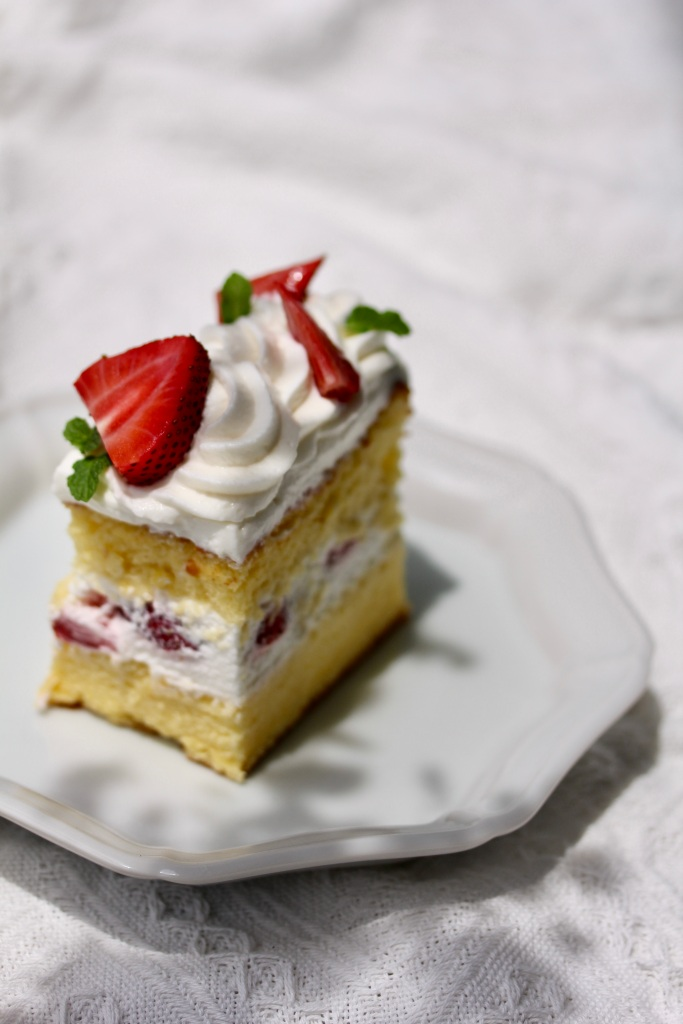 Strawberry shortcake - for a bake sale available to Singapore customers only.