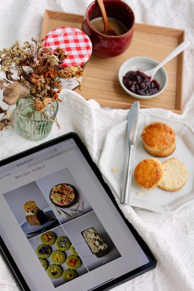 Flatlay with english scones   Wild Reverie, by Amanda
