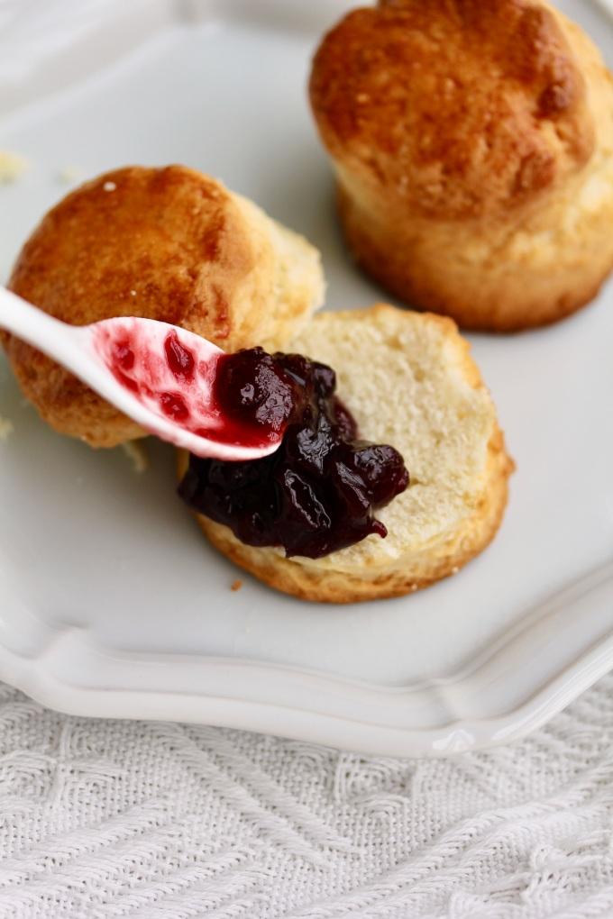 English scones with Cherry Jam   Wild Reverie, by Amanda